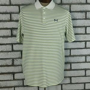 Under Armour Men's Polo Shirt Size L Striped